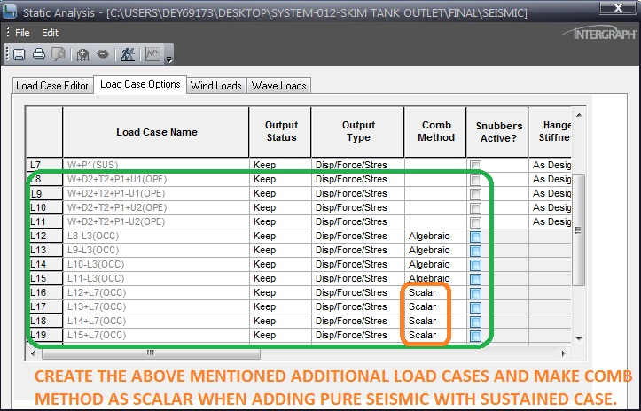 Seismic load Cases