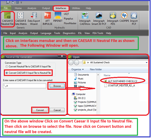 Procedure for making Neutral file from caesar II file
