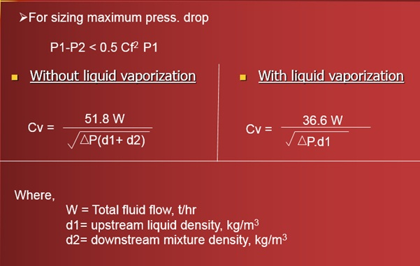 Cv Calculation Two Phase flow