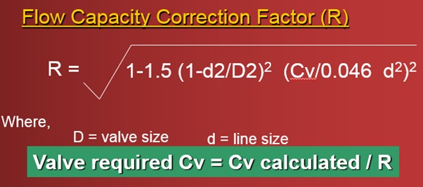 Flow Capacity Correction Factor
