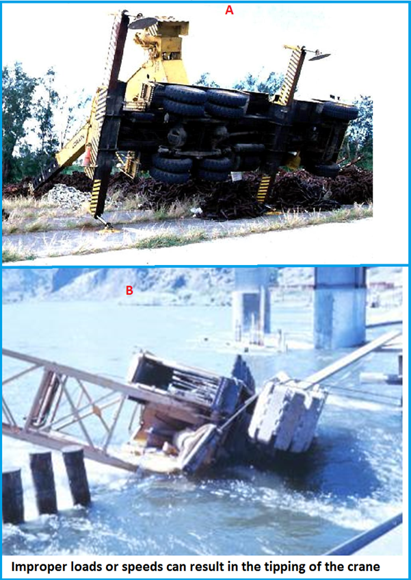 Example of Overturned Cranes