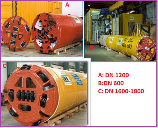 Examples of Micro-Tunneling Equipments
