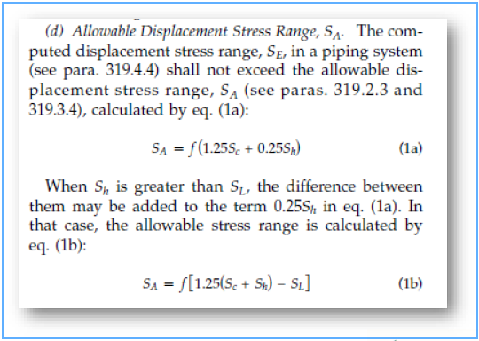 Allowable Displacement Stress Range