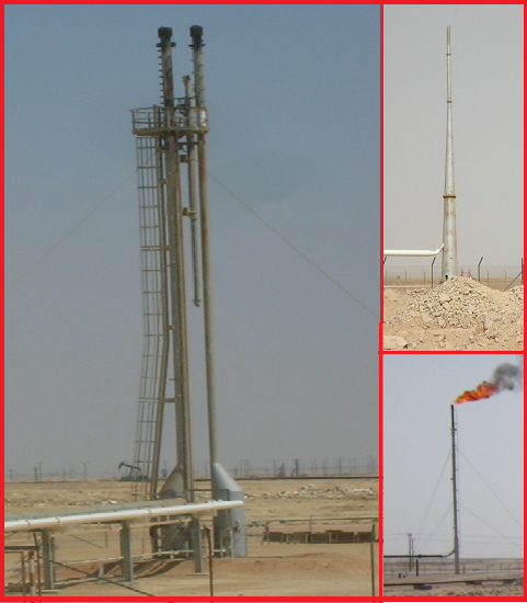 Typical Flare Stack