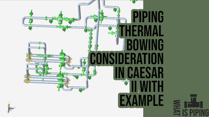 Piping Thermal Bowing Consideration in Caesar II with an example