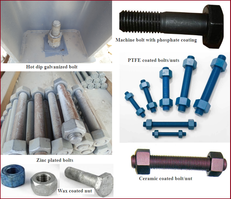 Various Types of Bolt Coatings used in Industry