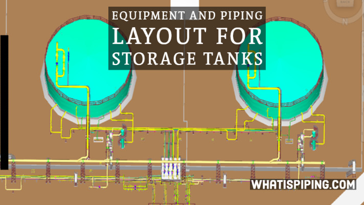 Equipment and Piping Layout for Storage Tanks