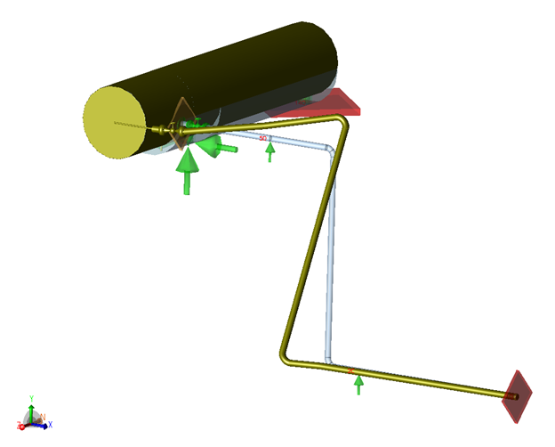 Typical Piping System explaining requirement for Spring Hangers