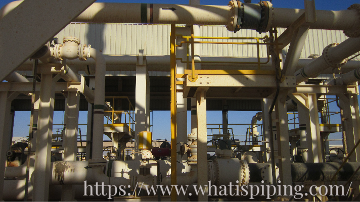 Pipes used in operating process plant