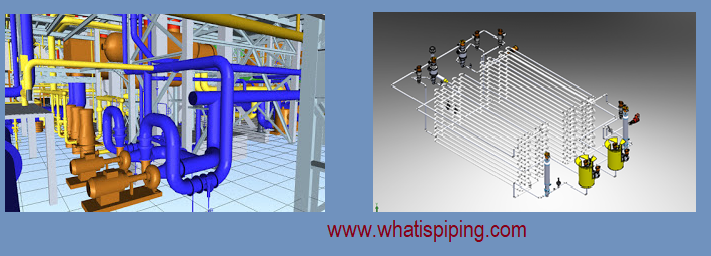 Examples of 3D model by piping design engineers