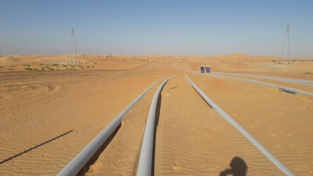 Typical Surface Laid Pipeline in Desert Area