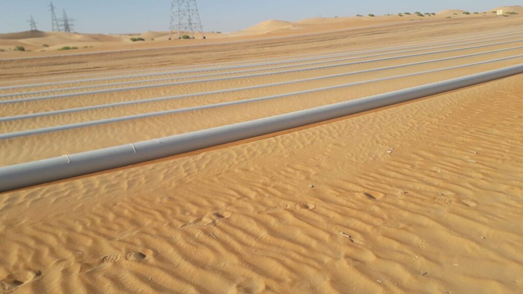 Site Photo of Surface Laid Pipelines