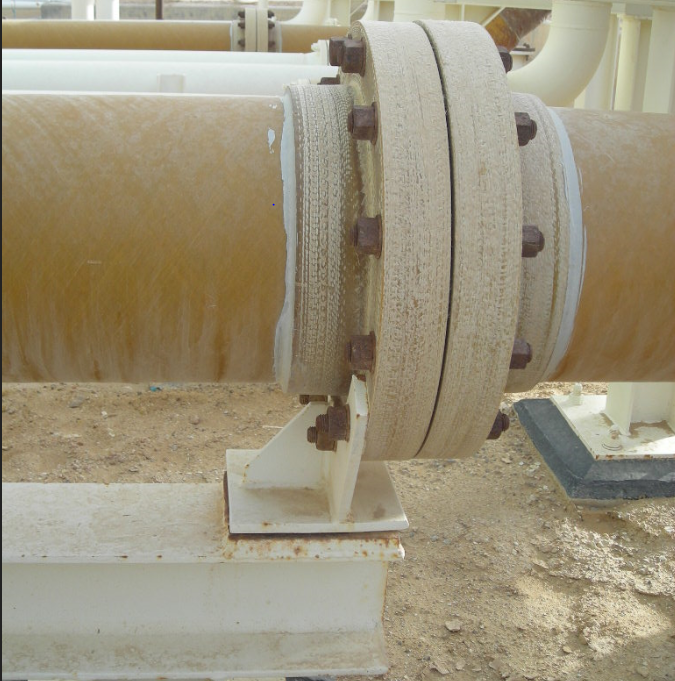 Flange Support on GRE Pipe