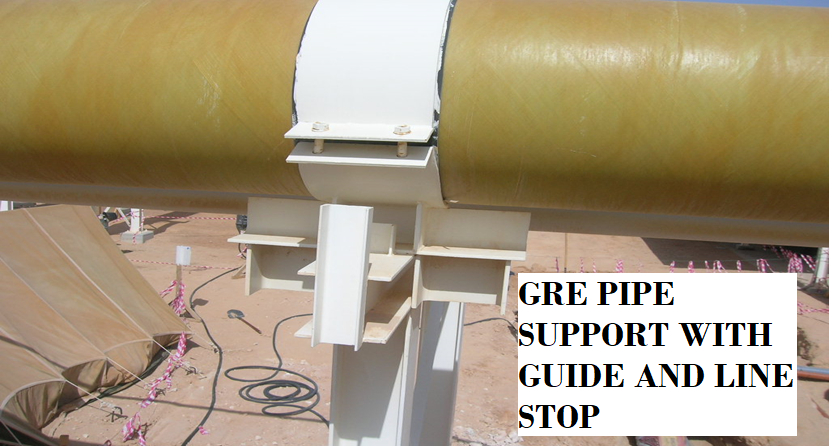 GRE Pipe support with Guide and Line Stop
