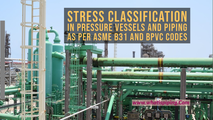 Stress Classification in Pressure Vessels and Piping as per ASME B31 and BPVC Codes