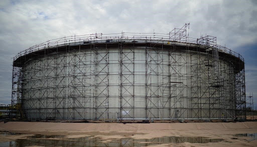 Scaffolding for Tank Construction and Erection