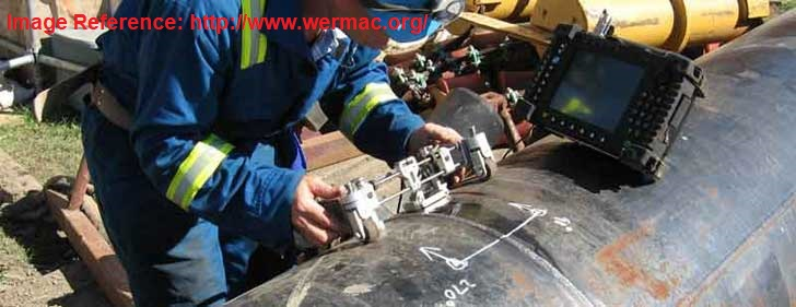 Ultrasonic Testing of welding in pipes