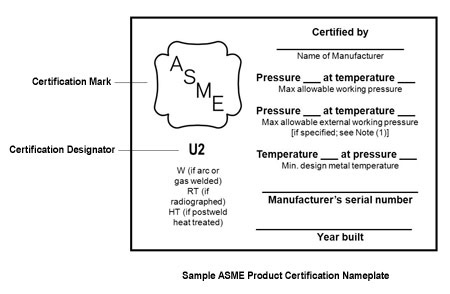 Sample ASME Certification Template