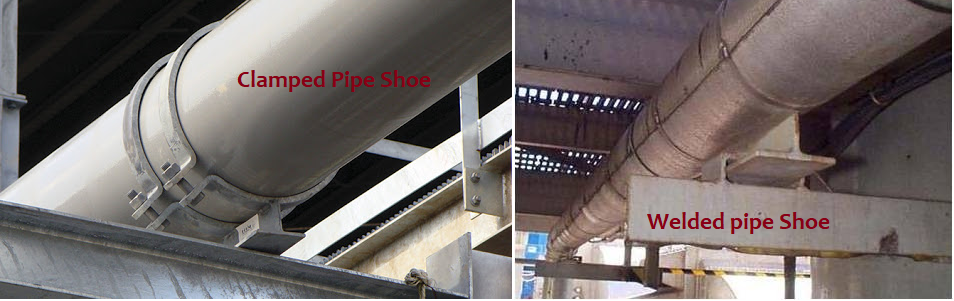 Clamped and Welded Pipe Shoe