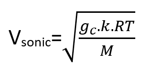 Equation of Sonic Velocity Calculation